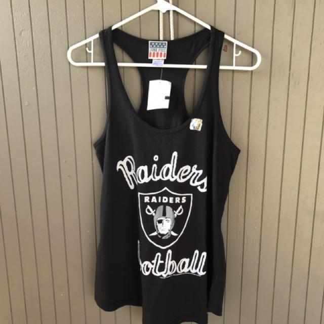 🇺🇸美國購回 Raiders奧克蘭美式足球 突擊者黑色顯瘦運動長板挖背背心