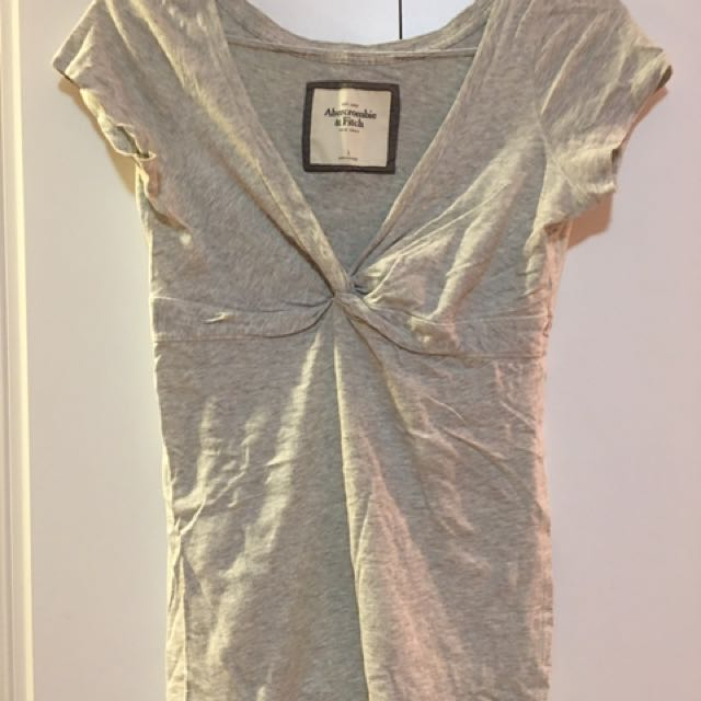 Abercrombie & Fitch Grey Cotton Top