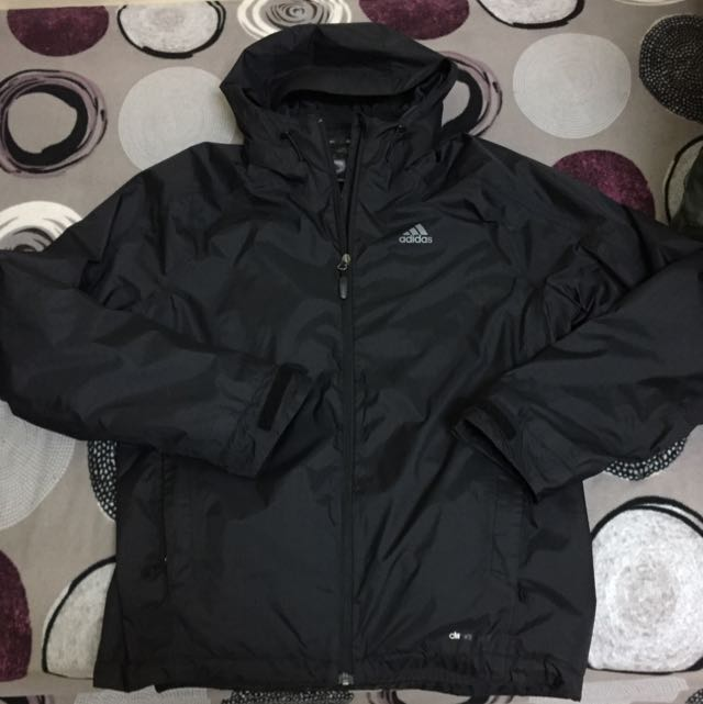 Adidas 防潑水 雙層外套 刷毛 防水