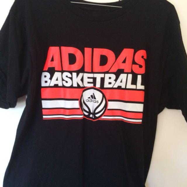 Adidas Basketball T-Shirt Sz L