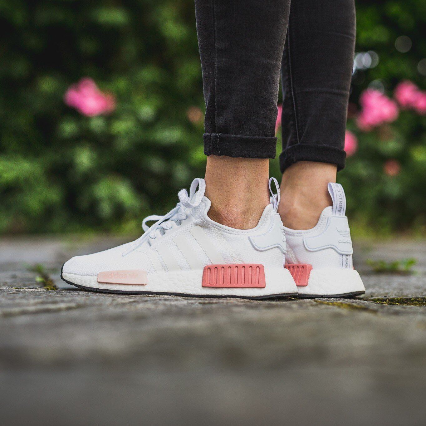 Adidas Originals Nmd R1 W White Rose Women S Fashion Shoes On