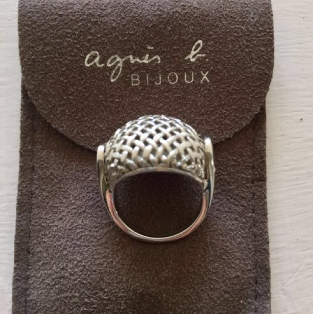 AGNES B STERLING SILVER RING