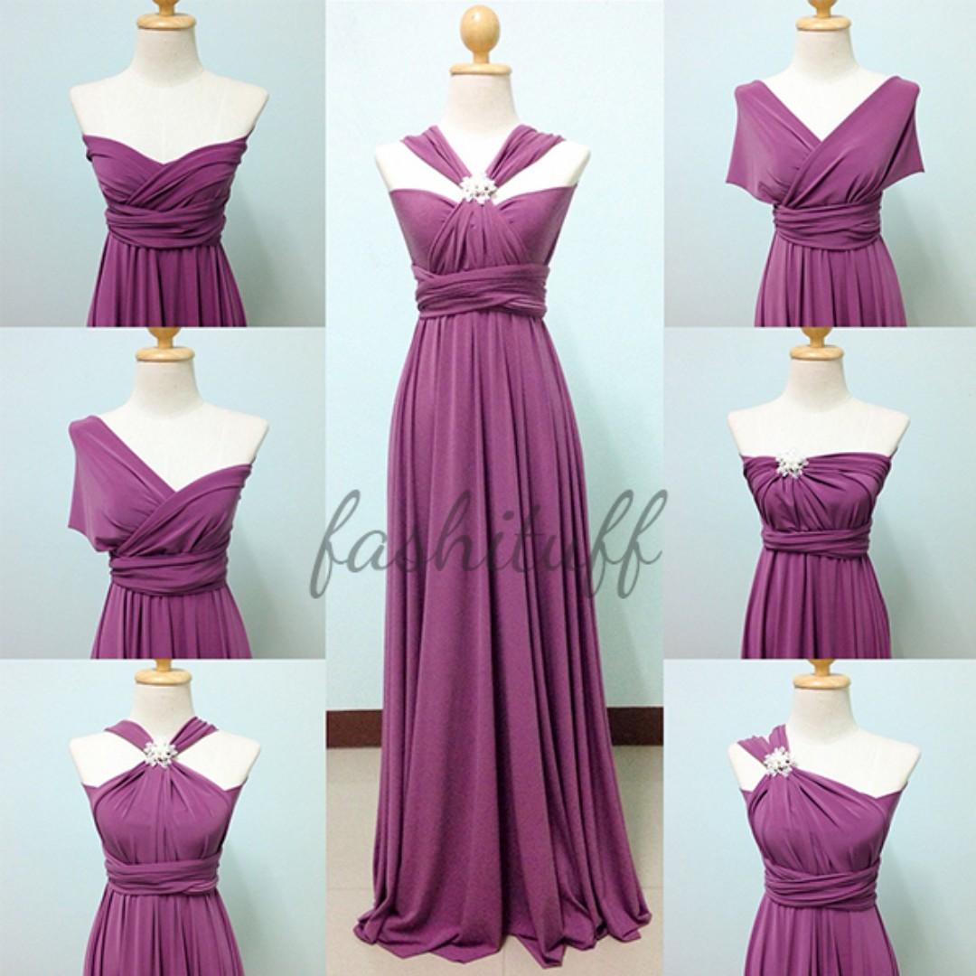 Amethyst Infinity Dress / Convertible Wrap Maxi Dress, Preloved ...