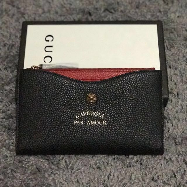 best website 1d086 2a855 Animalier travel document case*Gucci*