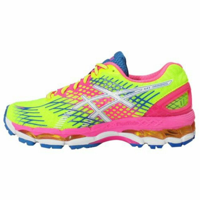 Asics Gel-Nimbus 17 Flash Yellow Pink Womens Running Shoes Sneakers T557N 034e373842