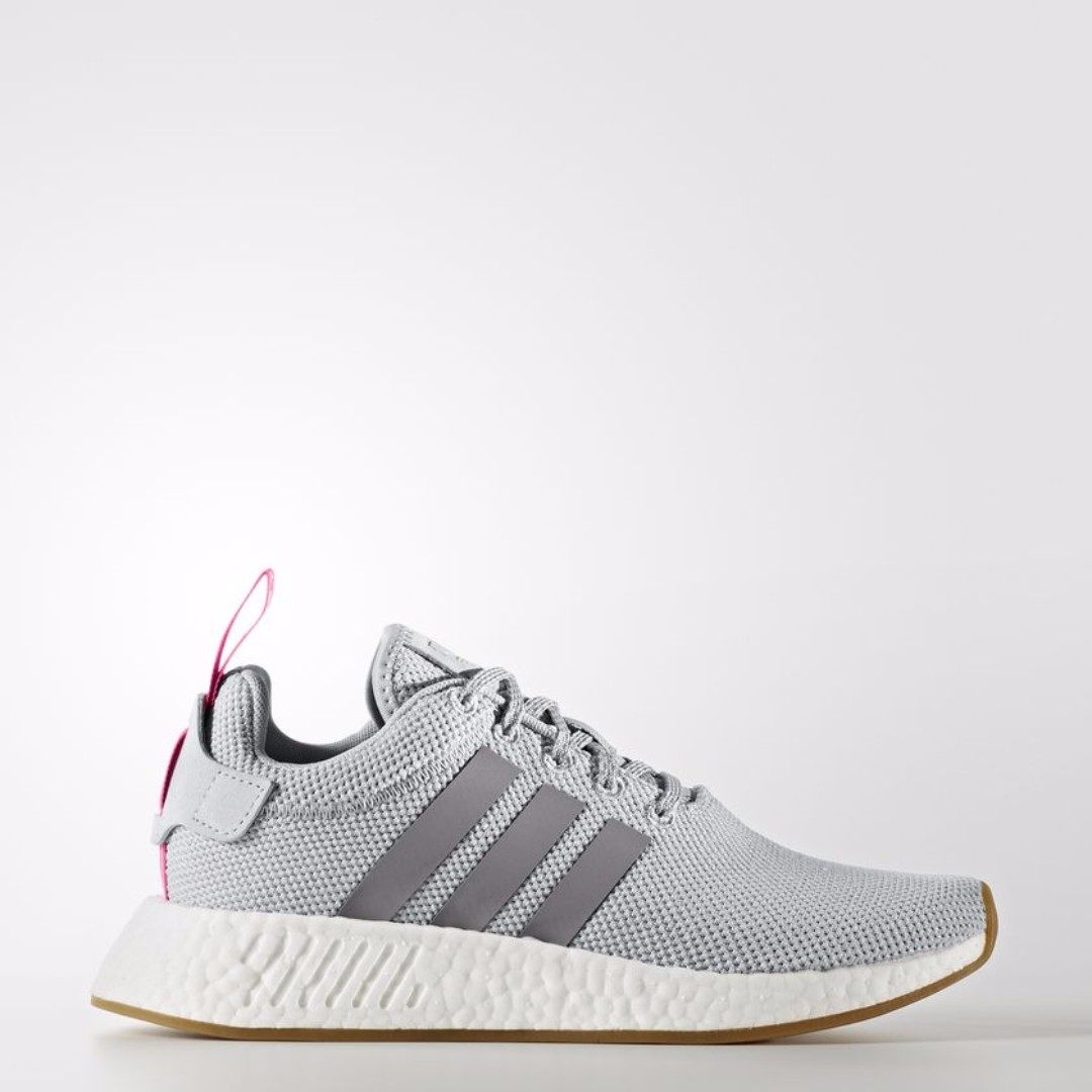 c66bb29ac8f0d Authentic Adidas Originals Womens NMD R2 Textile Pack Grey   Pink ...