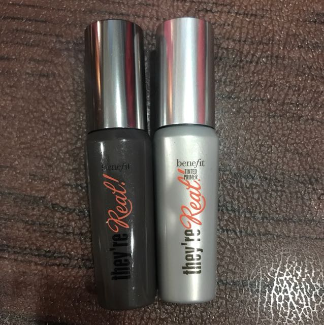 Authentic Benefit they're real tinted primer & mascara