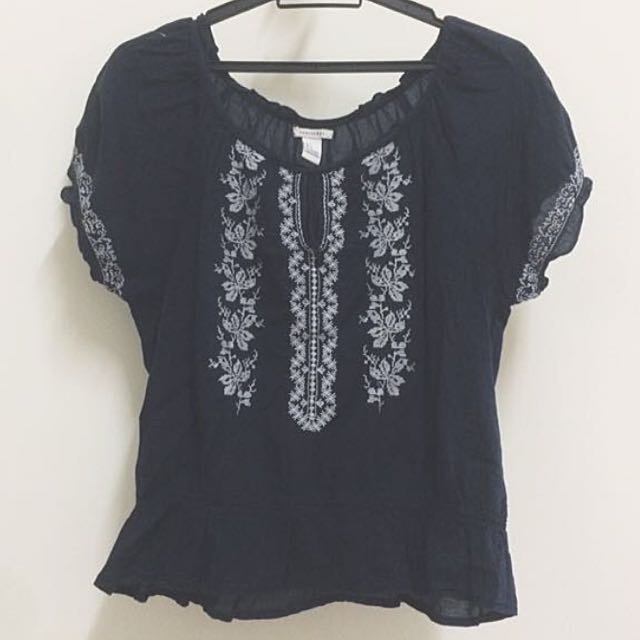 Authentic Forever 21 F21 Bohemian Boho Top Tee Blouse Shirt