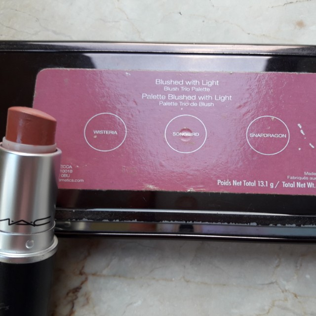 Becca Blushed with Light and MAC Velvet Teddy