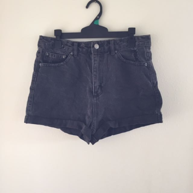 Black/ Grey denim shorts
