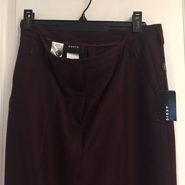 BNWT AKRIS Wool Blend Dress Pants
