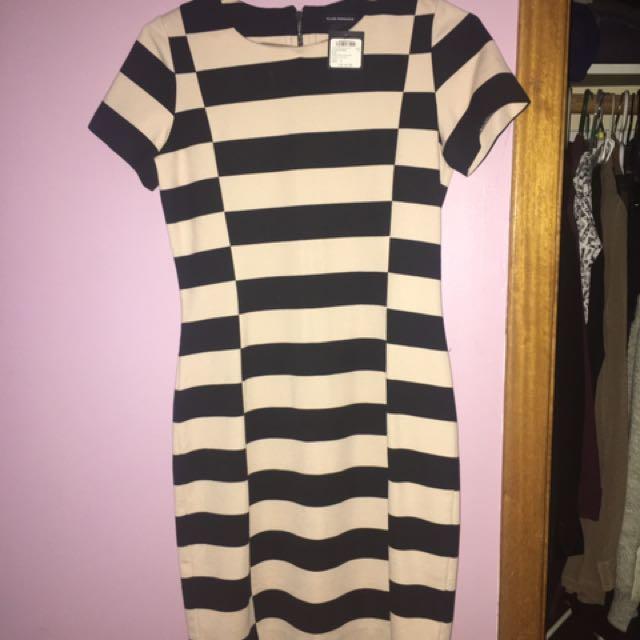 Club monaco brand new with tags striped dress