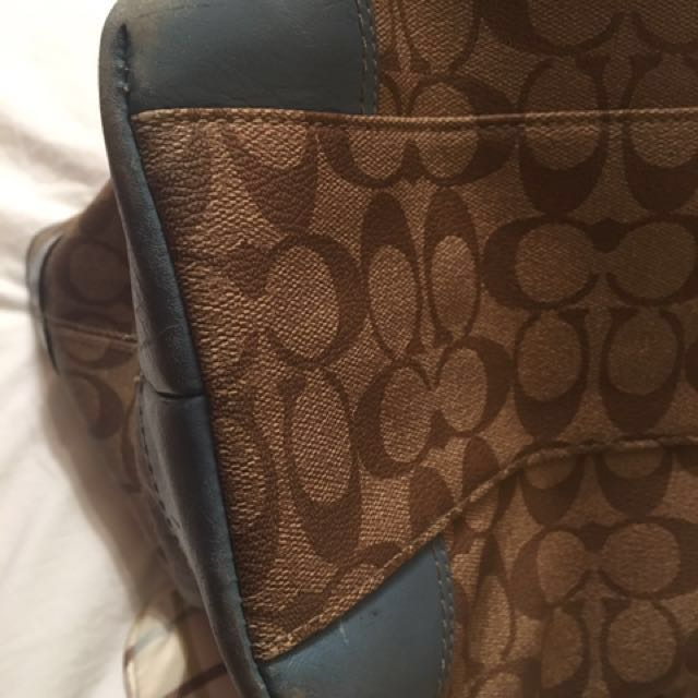 COACH Heritage BABY DIAPER BAG W/Coach Change Pad!