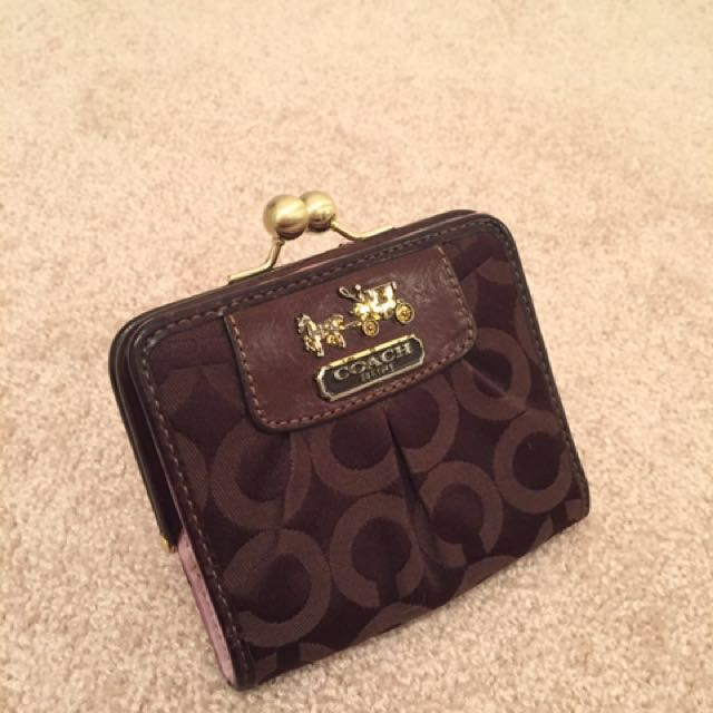 COACH wallet with coin purse