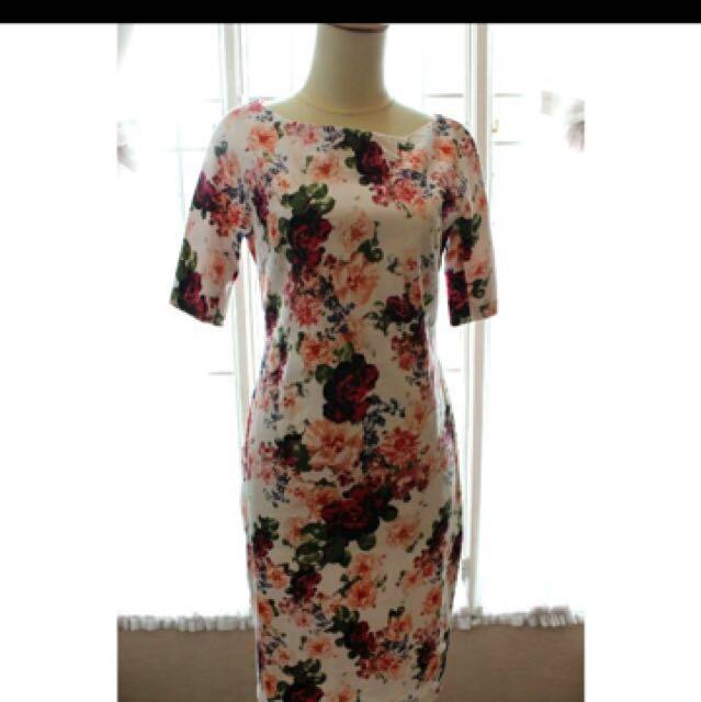 Cocoya floral dress (size L)