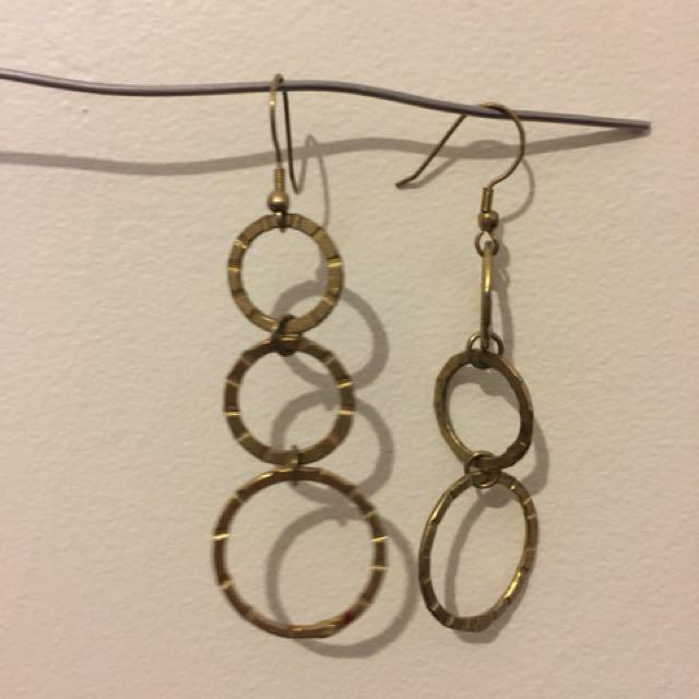 Copper festival earrings