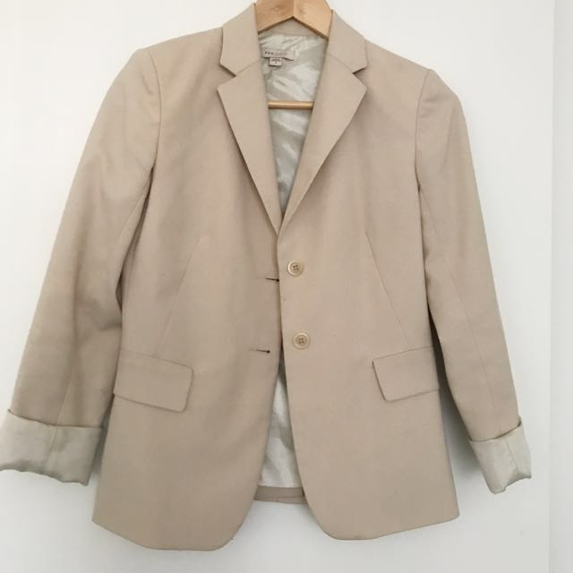 Cue Nude Beige Blazer Jacket