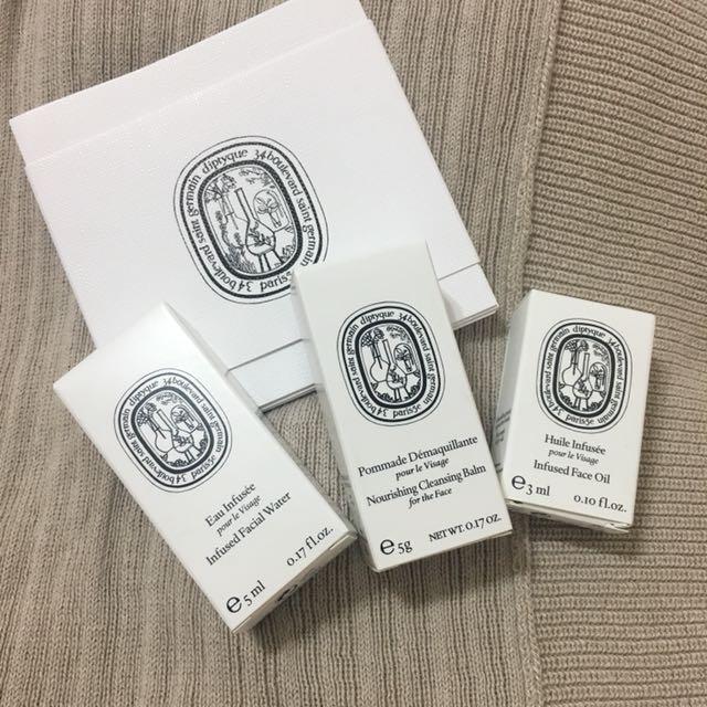 Diptyque 活膚潤澤水凝露 深層卸妝膏 活膚潤澤油 專櫃 試用 小樣