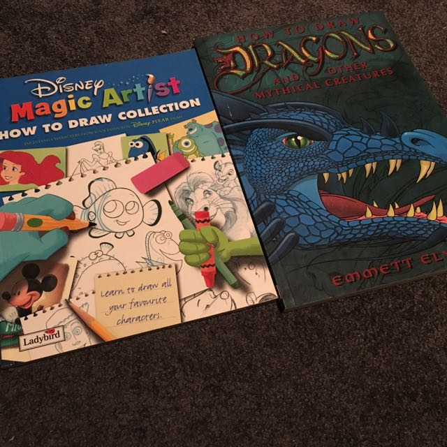 Disney & Dragons How-to-draw Books Bundle
