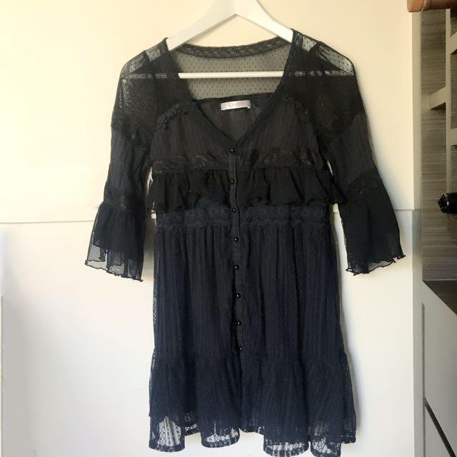 日本🇯🇵Dizzy 黑色蕾絲洋裝