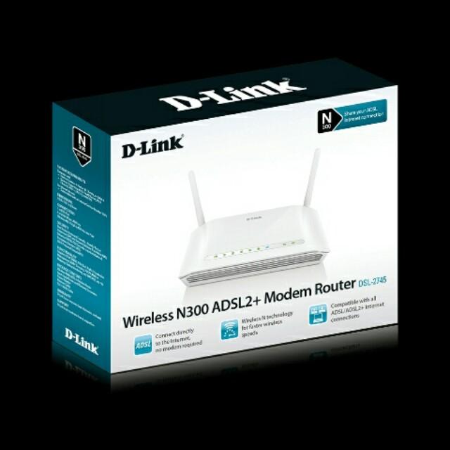 D-link wireless N300 ADSL2 + modem router