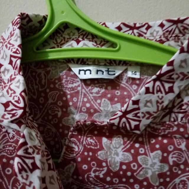 Dress sedengkul batik merk mint