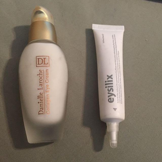 Eye creams - dermalogica and Danielle Laroche