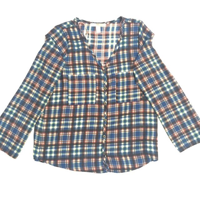 F21 Plaid Blouse