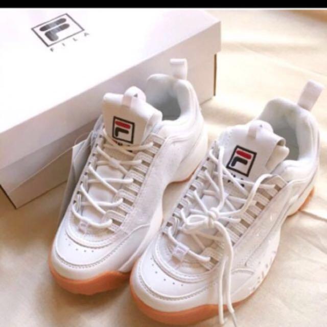 轉賣)🌈FILA 韓國厚底鋸齒 復古休閒鞋