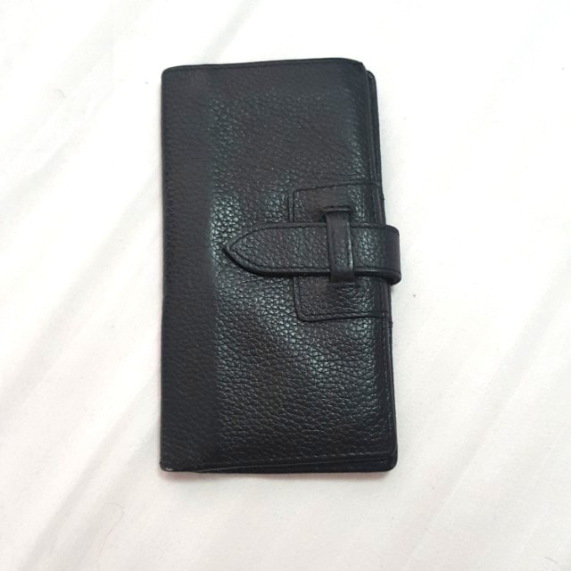 FINO BLACK LEATHER WALLET/CARDHOLDER