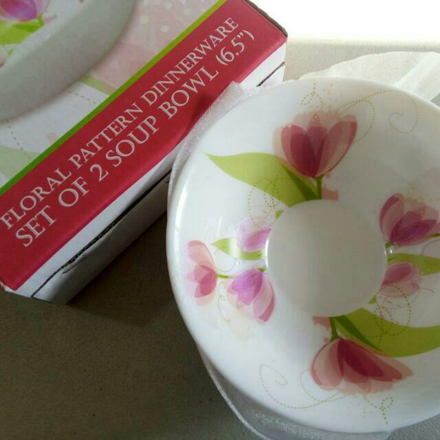 Floral Glassware