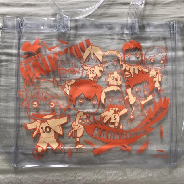 Haikyuu Transparent bag