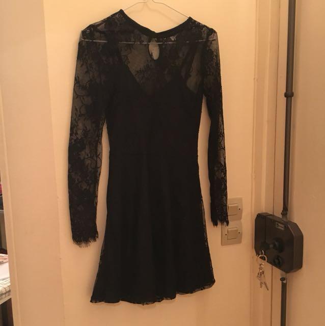 H&M 蕾絲性感透膚洋裝 全新
