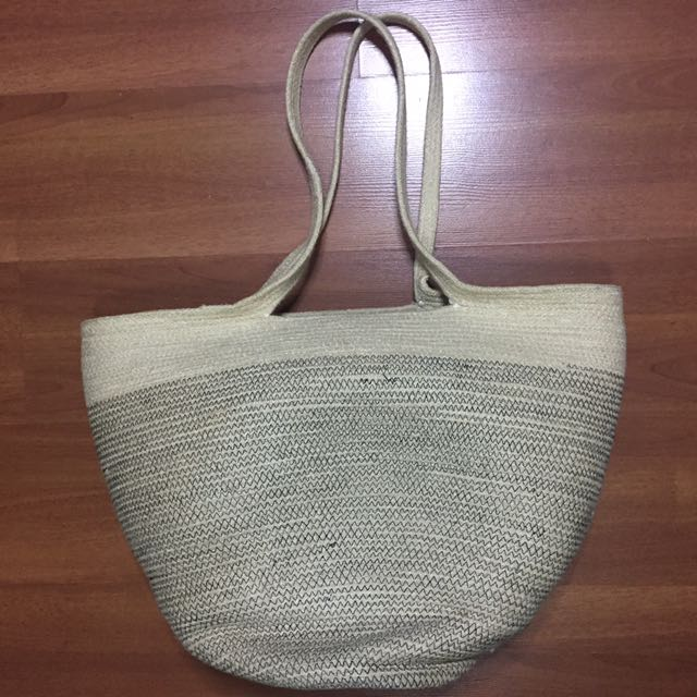 H&M Large Jute Beach Bag