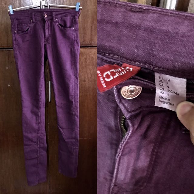 H&M Purple Skinny Jeans
