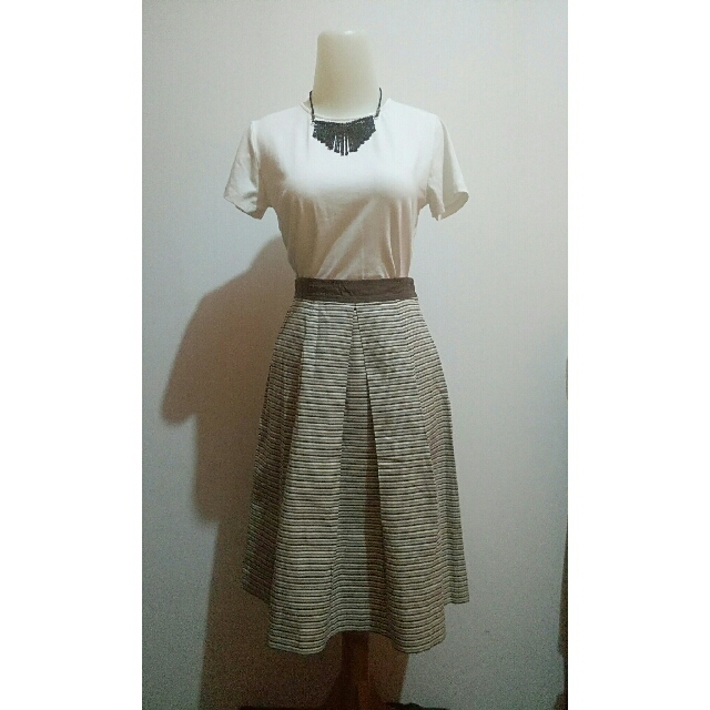 Horizontal Stripes Skirt (top not included)