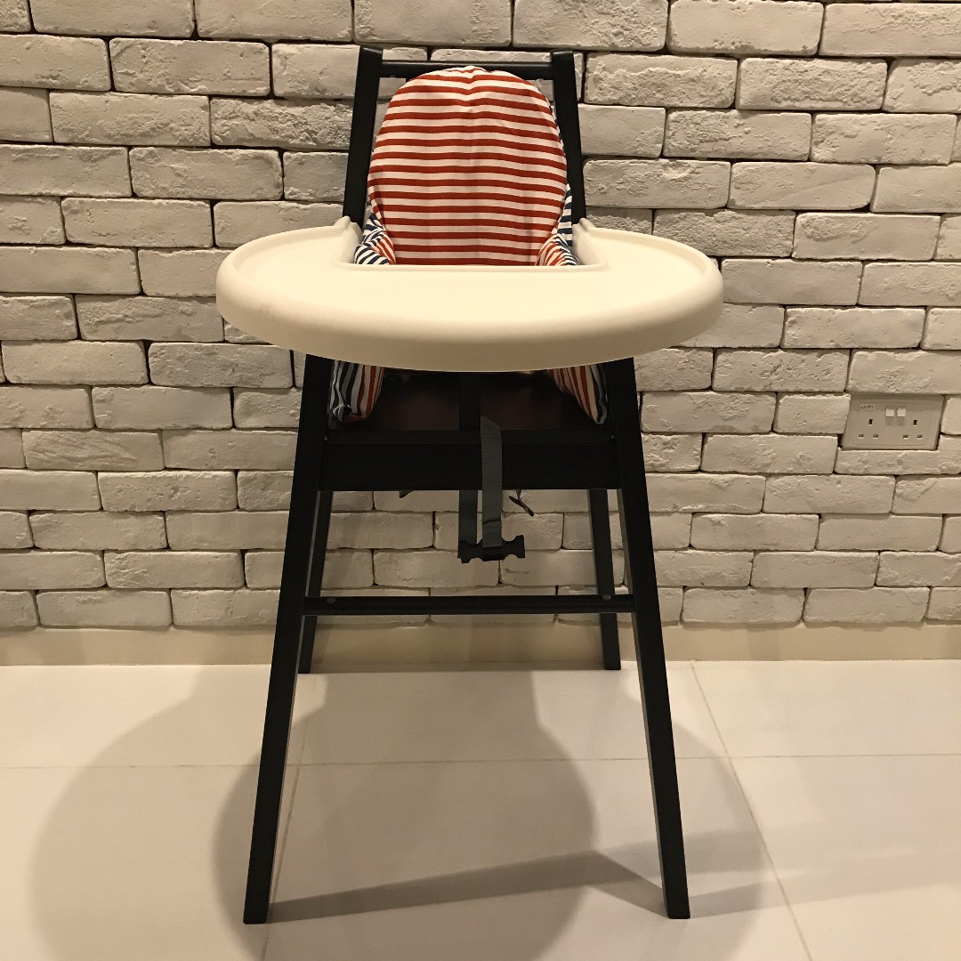 ikea blames high chair with tray pyttig support pillow and cover