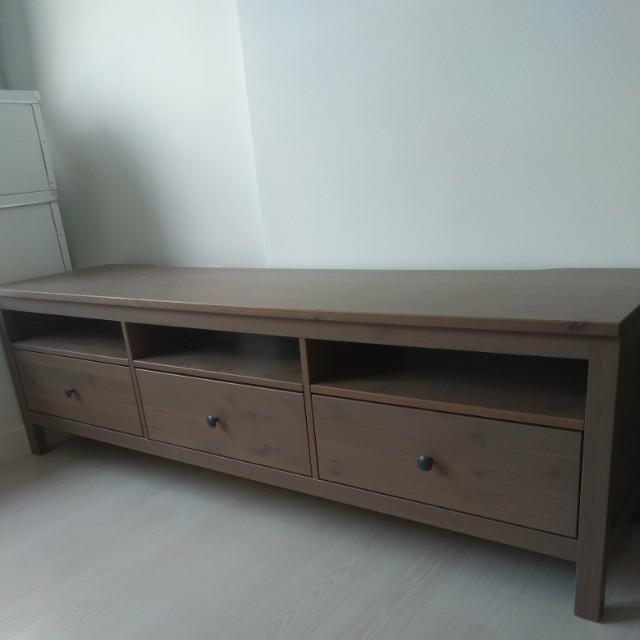 Hemnes Ikea Tv Kast.Ikea Hemnes Tv Bench Long Version Furniture Shelves Drawers