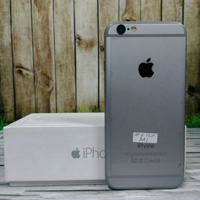iPhone 6 128GB Gray Super Mulus fullset original ex internasional USA LL ( ITC Cempaka Mas )