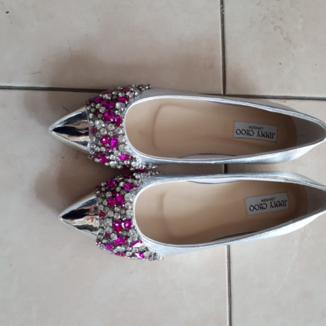 Jimmy choo flat shoes mirror