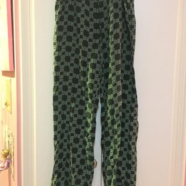 Joe Fresh 100% Silk Green Pants