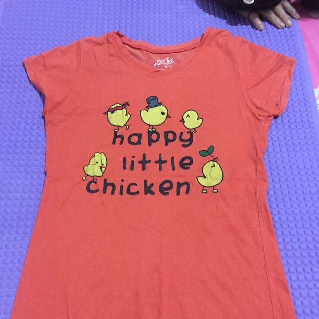 kaos happy little chicken