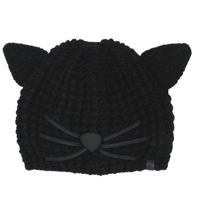 Karl lagerfeld 貓咪毛帽