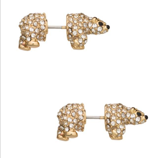 Kate Spade Polar Bear Earrings