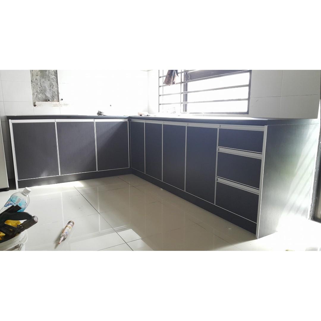 Kitchen Cabinet Kabinet Dapur Melamine Home Furniture Others On Carou