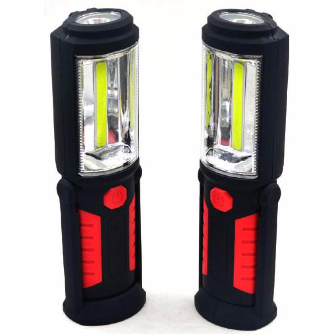 Lampu Darurat 360 Kaki Magnetik - Black