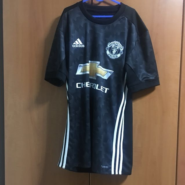 uk availability 825e5 c44bc Manchester United 2018 away jersey size adult xs pogba print
