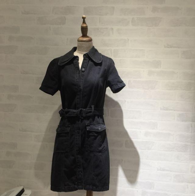 全新Mango黑牛仔洋裝