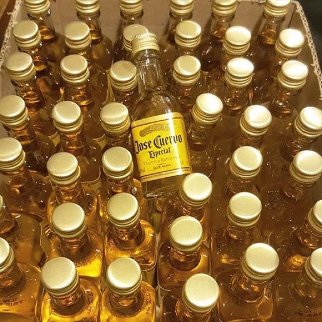 Mini Cuervo Bottles