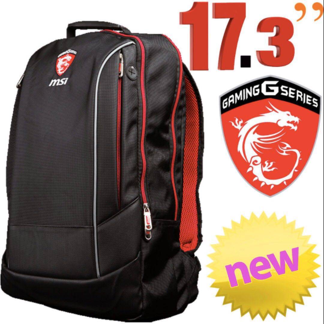 Msi Hecate Laptop Backpack For Up To 17 3 Brand New In Sealed Bag Men S Fashion Accessories On Carou